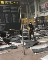 Бельгия, террористическая атака. Последствия взрыва в аэропорту