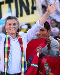 оппозиционный кандидат Маурисио Макри